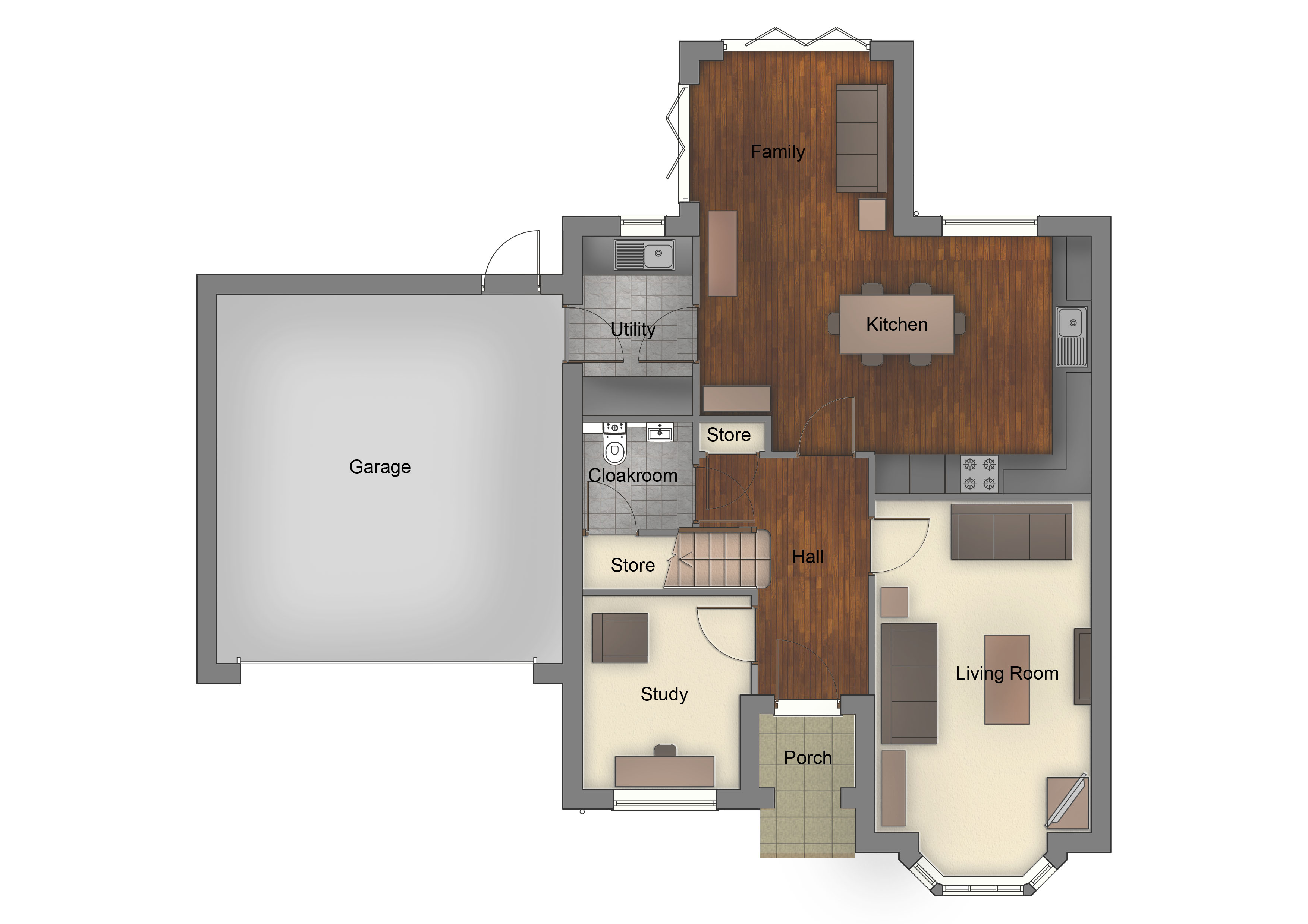 View Floorplan The Orchard Borrowash Orchard Central